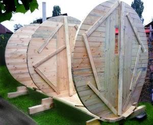 «Баня-бочка: особенности и преимущества. Инструкция по строительству бани-бочки своими руками» фото - banya bochka 6 300x246