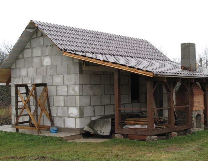 «Баня из газобетона: постройка своими руками» фото - banya iz gazobetona 1 1