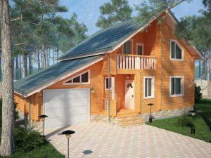 «Дом с баней под одной крышей: проекты и особенности» фото - dom banya 1 300x225