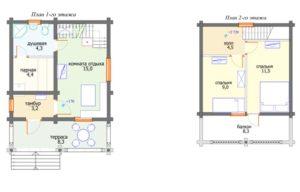 «Дом с баней под одной крышей: проекты и особенности» фото - dom banya 4 300x192