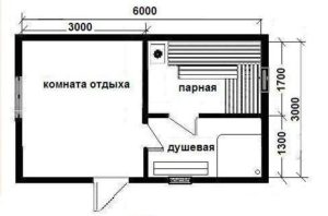 «Баня из бруса 6 на 3: проекты, варианты планировки и фото» фото - proekt 6x3 4 300x198