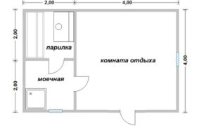«Проект бани из бруса 6х4: особенности составления, постройки и планировки, фото» фото - proekt 6x4 4 300x180