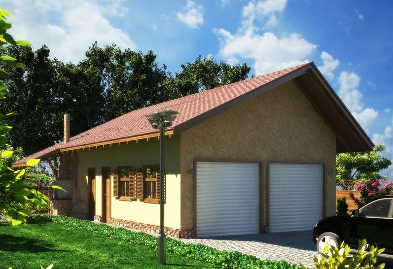 «Проект гаража с баней: особенности строительства и выбор материала» фото - proekt banya garaj 1 1
