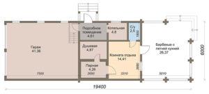 «Проект гаража с баней: особенности строительства и выбор материала» фото - proekt banya garaj 4 300x135