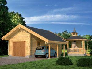 «Проект гаража с баней: особенности строительства и выбор материала» фото - proekt banya garaj 6 300x225