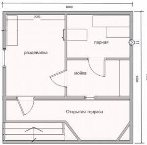 «Проекты бань с барбекю: преимущества, планировка, особенности строительства и фото» фото - proekt barbeku 8 300x297