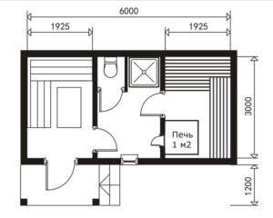 «Проекты небольших бань: преимущества, популярные планировки, примеры и фото» фото - proekt nebolshih ban 6 300x240