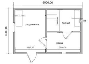 «Проекты небольших бань: преимущества, популярные планировки, примеры и фото» фото - proekt nebolshih ban 7 300x217