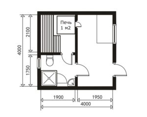 «Проекты небольших бань: преимущества, популярные планировки, примеры и фото» фото - proekt nebolshih ban 8 300x240