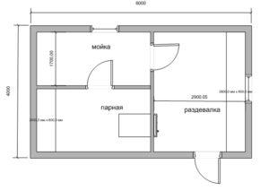 «Проекты бань из пеноблоков: примеры, виды и особенности» фото - proekt penoblok 11 300x213