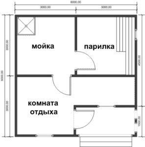 «Проекты бань из пеноблоков: примеры, виды и особенности» фото - proekt penoblok 14 296x300