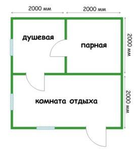 «Проекты бань из пеноблоков: примеры, виды и особенности» фото - proekt penoblok 5 275x300