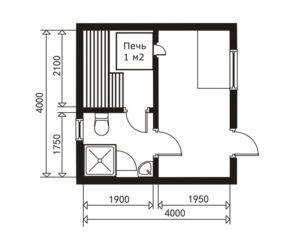 «Проект бани 4 на 4: особенности и преимущества» фото - proekt 4 4 5 300x240