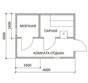 «Проекты каркасных бань: преимущества и выбор чертежа» фото - proekt karkasnyh ban 11 300x285