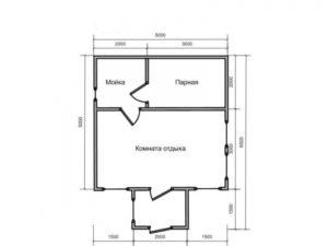 «Проекты каркасных бань: преимущества и выбор чертежа» фото - proekt karkasnyh ban 12 300x225