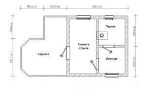 «Проекты каркасных бань: преимущества и выбор чертежа» фото - proekt karkasnyh ban 6 300x198