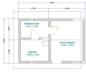 «Проекты бань из кирпича: фото, чертежи. Кирпичная баня своими руками: пошаговая инструкция» фото - proekt kirpich 11 300x253
