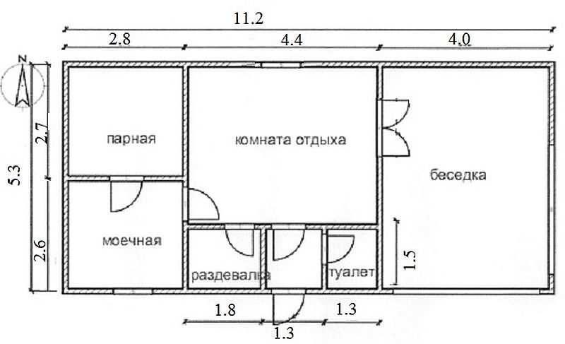 «Баня из клееного бруса: преимущества и особенности постройки; проекты бань из клееного бруса» фото - banya kleenyj brus 5 800x487