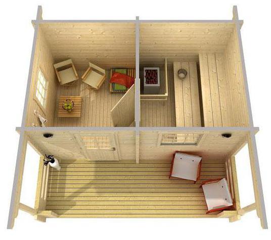 «Проект бани 6х4: особенности составления, примеры и фото» фото - proekt 6x4 25