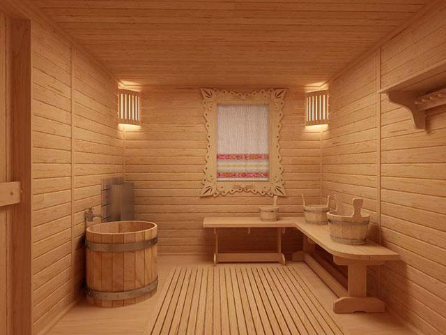 «Проект бани 8х8 м: преимущества, виды. Нюансы строительства бани 8 на 8 м» фото - proekt 8x8 4