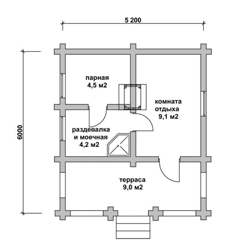 «Проекты бань из керамзитобетонных блоков: фото и особенности. Этапы строительства бани из блоков» фото - proekt keramzit 13 760x800