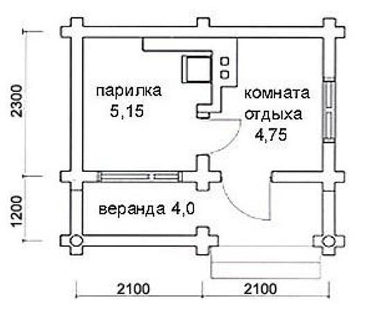 «Проекты бань из керамзитобетонных блоков: фото и особенности. Этапы строительства бани из блоков» фото - proekt keramzit 8