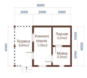 «Проекты бани с комнатой отдыха: особенности составления, виды» фото - proekt komnata otdyha 6