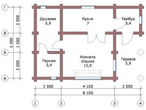«Проекты бани с комнатой отдыха: особенности составления, виды» фото - proekt komnata otdyha 7