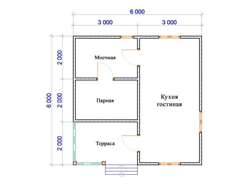 «Проекты бани с комнатой отдыха: особенности составления, виды» фото - proekt komnata otdyha 8 800x600