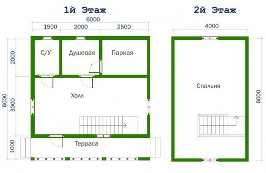 «Баня 6 на 6 из бруса с мансардой: проекты, особенности постройки и фото» фото - proekt mansarda 6x6 12