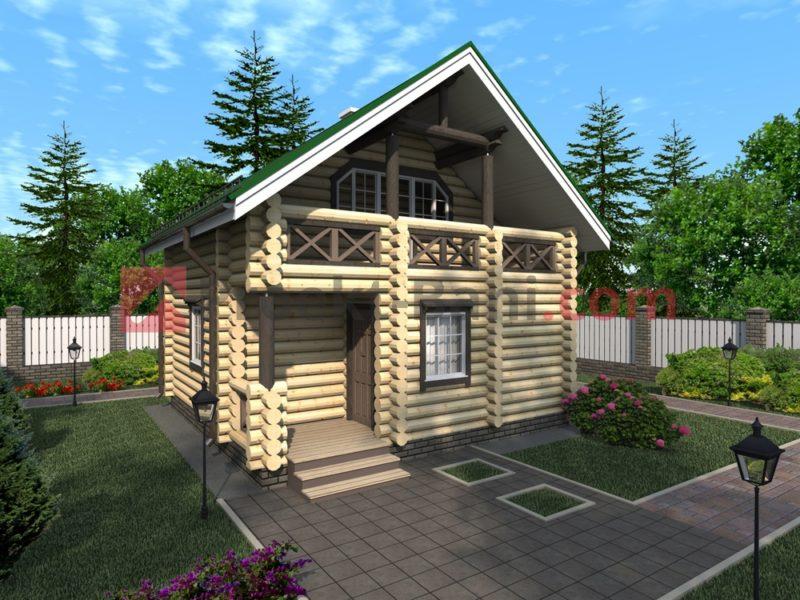 «Баня 6 на 6 из бруса с мансардой: проекты, особенности постройки и фото» фото - proekt mansarda 6x6 3 800x600