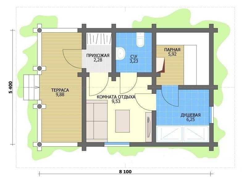 «Проекты бань с террасой: фото, примеры, особенности» фото - proekt terrasa 10 800x595