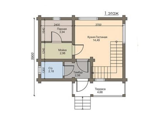 «Проекты гостевых бань: примеры и особенности реализации. Нюансы строительства гостевых домов с баней» фото - proekty gostevyh ban 12