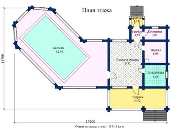«Проекты гостевых бань: примеры и особенности реализации. Нюансы строительства гостевых домов с баней» фото - proekty gostevyh ban 8