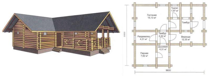«Проекты угловых бань: преимущества, виды и варианты планировки» фото - uglovaja banya 12 800x292