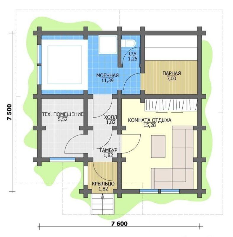 «Проекты угловых бань: преимущества, виды и варианты планировки» фото - uglovaja banya 5 787x800