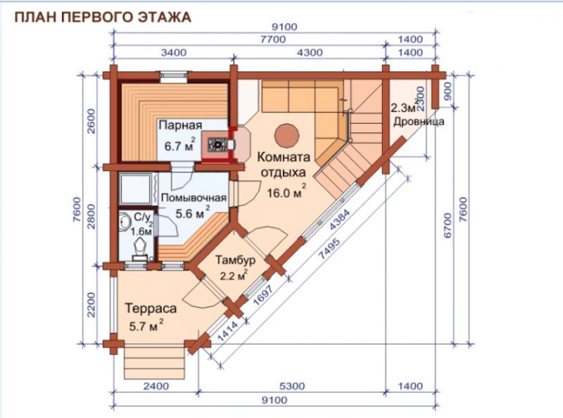 «Проекты угловых бань: преимущества, виды и варианты планировки» фото - uglovaja banya 8 800x594