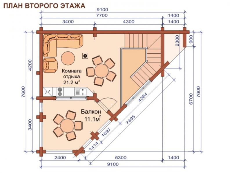 «Проекты угловых бань: преимущества, виды и варианты планировки» фото - uglovaja banya 9 800x597