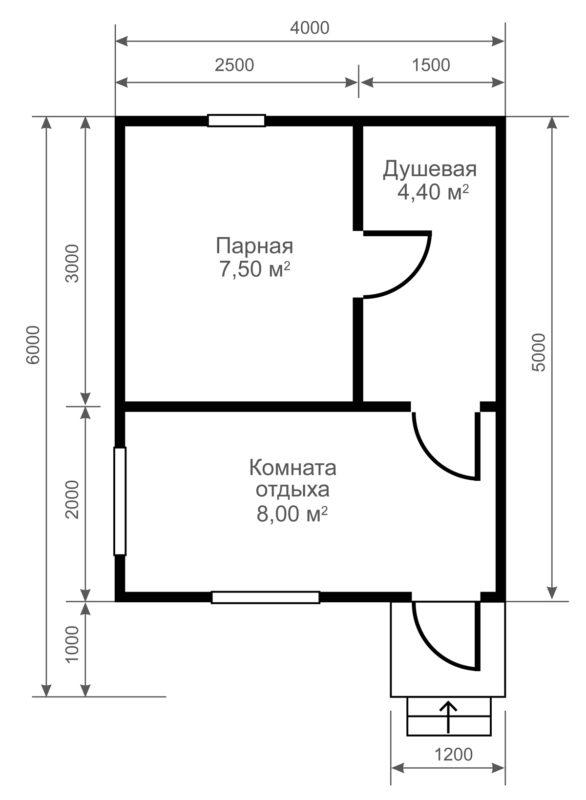 «Проект бани 4 на 5: преимущества, особенности составления и примеры» фото - proekt bani 4 5 7 586x800