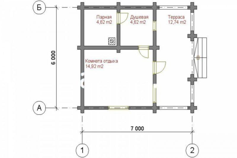 «Проекты бань 6 на 7: особенности составления, фото и схемы» фото - proekt bani 6 7 12 800x533
