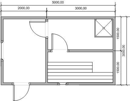 «Проект бани 3 на 5 м: фото, примеры. Как составить проект бани 3х5?» фото - proekt 3 5 7