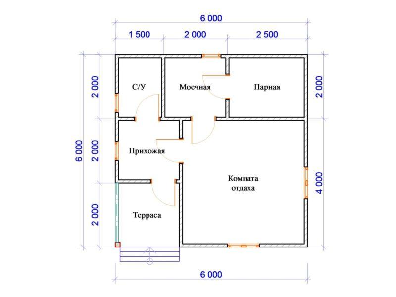 «Бани из газобетона: проекты, фото, преимущества материала» фото - proekt bani gazobeton 4 800x600