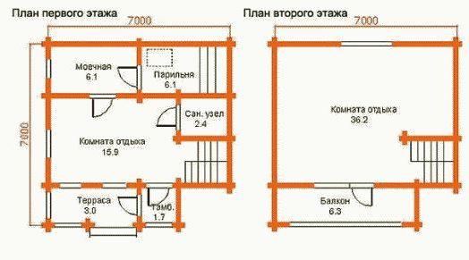 «Бани из газобетона: проекты, фото, преимущества материала» фото - proekt bani gazobeton 8