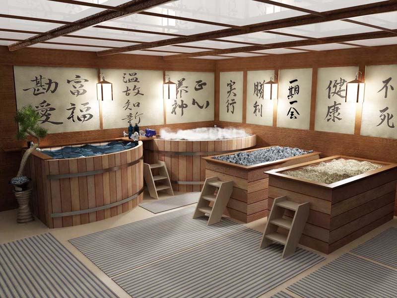 В японской бане женского отделения