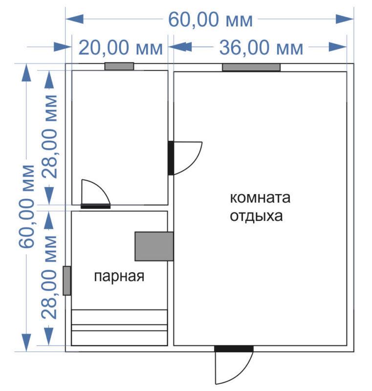 «Баня 6 на 6: проект, особенности и фото» фото - banya 6 6 3 761x800