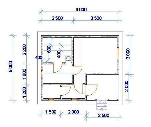 «Баня 5 на 6: планировка, особенности составления проекта. Варианты проектов бани 5х6 м» фото - banya 5 na 6 7