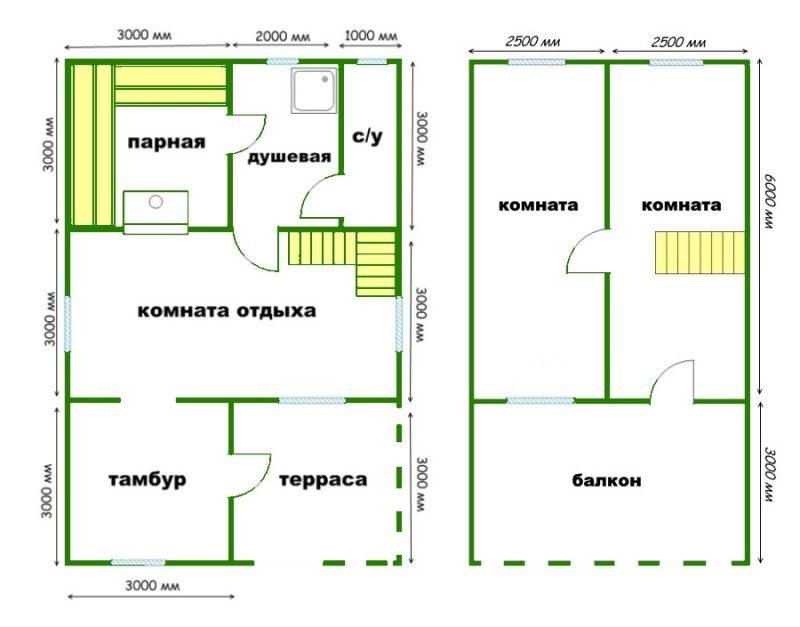 «Баня с мансардой: проекты, преимущества и особенности составления» фото - banya mansarda 4 800x627