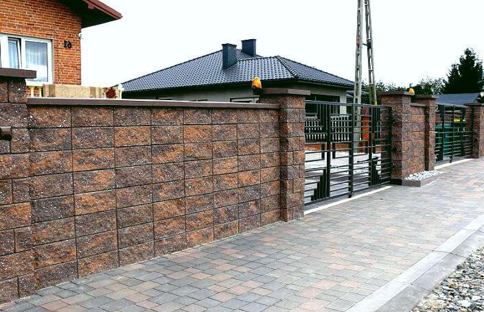 «Как сделать декоративный забор своими руками?» фото - kak vybrat bloki dlya zabora 4