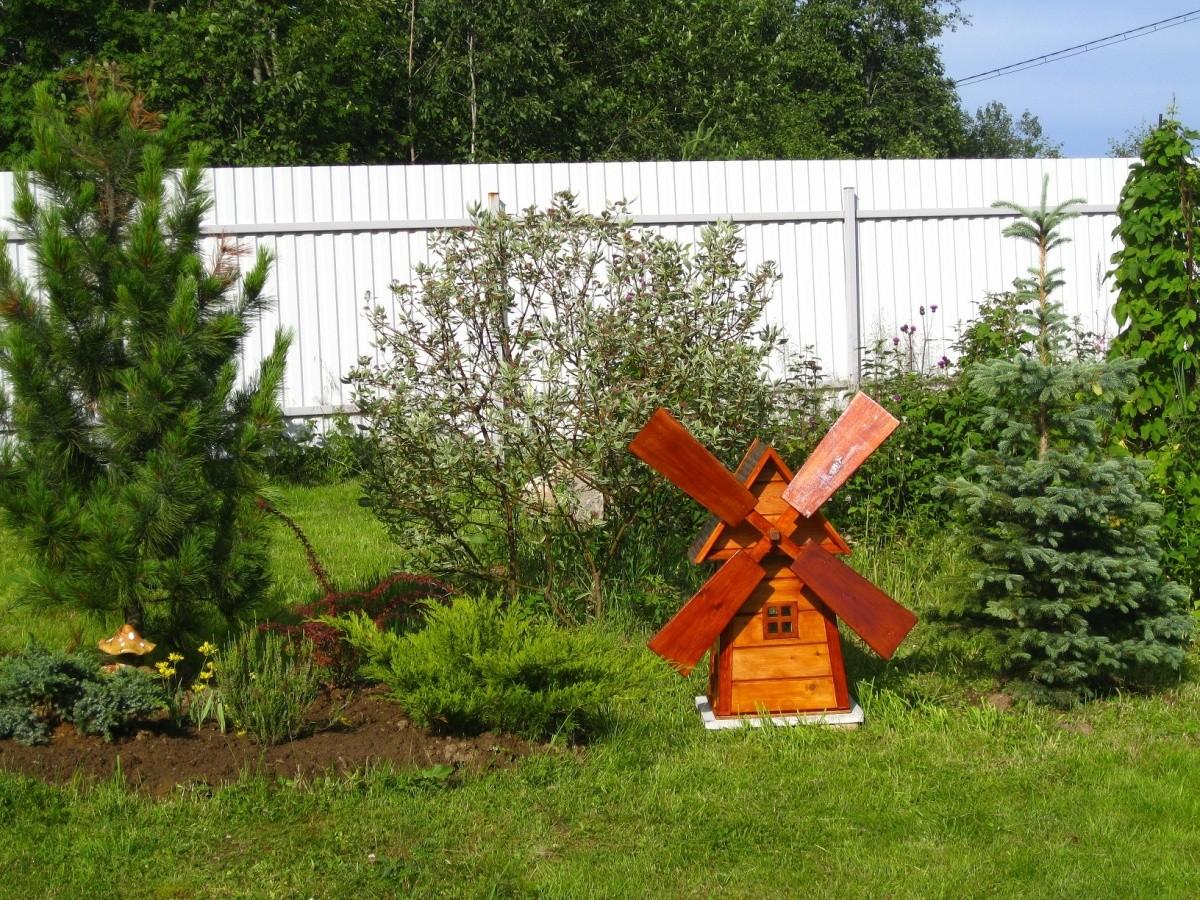 «Делаем декоративную мельницу в саду своими руками» фото - 27