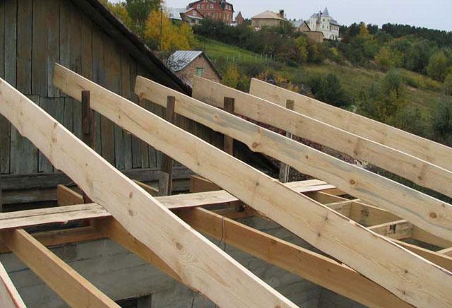 «Баня с односкатной крышей. Как сделать односкатную крышу для бани своими руками?» фото - banja odnoskatnaja krysha 11